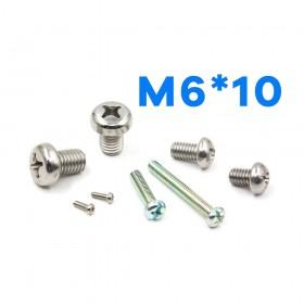 白鐵丸頭十字螺絲 M6*10 (10pcs/包)