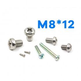 白鐵丸頭十字螺絲 M8*12 (10pcs/包)