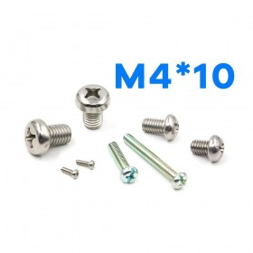 白鐵丸頭十字螺絲 M4*10 (10PCS/包)