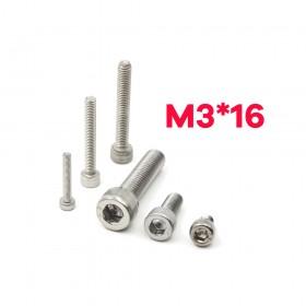 白鐵窩頭內六角螺絲 M3*16 (10pcs/包)