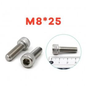 白鐵窩頭內六角螺絲 M8*25 (10pcs/包)