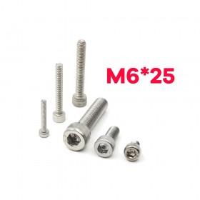 白鐵窩頭內六角螺絲 M6*25 (10pcs/包)
