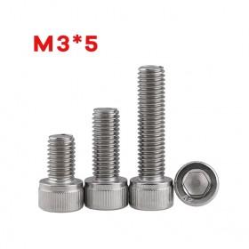 白鐵窩頭內六角螺絲 M3*5 (10pcs/包)
