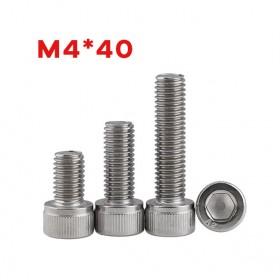 白鐵窩頭內六角螺絲 M4*40 (10pcs/包)