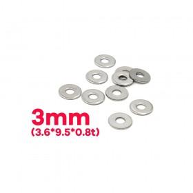 白鐵華司 3mm(3.6*9.5*0.8t) (10pcs/包)