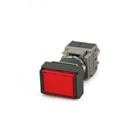 AH164-TLR11E3 富士 16ψLED長方型按鈕 復歸 1A1B 24V/紅