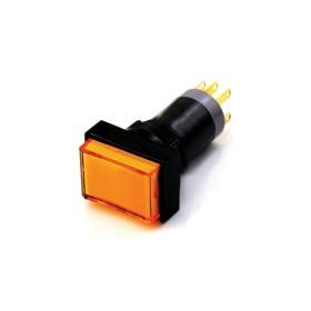 天得開關 長方形照光16mm DC24V 橙色 (復歸)