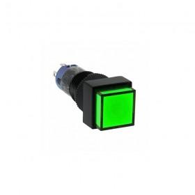 IDEC 12mm正方型照光復歸-綠 2.2V 1C