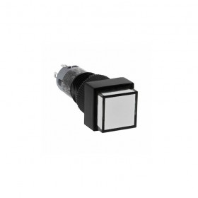 IDEC 12mm正方型照光復歸-白 2.2V 1C