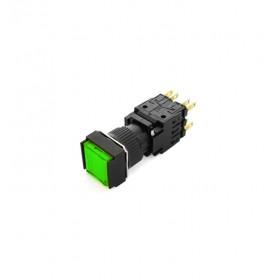 TNED 16/方形復歸照光LED24V 綠色2C(TN16-MLS47G2)