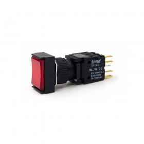 TN16-MLL47R1 天得16mm長方形復歸照光按鈕(紅) LED 24V 1A1B
