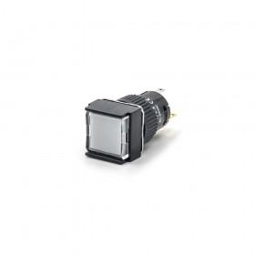 TT16-MLS42W1 天得16mm 正方形復歸照光按鈕(白) LED 220V 1A1B