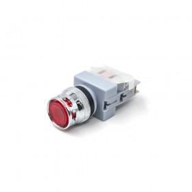 22 LED平頭照光按鈕-紅 110V 1b