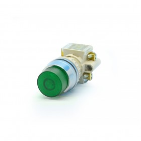T2ILR7G-I1C 22/25ψT2直照凸頭圓形-綠色 1A1B 24V
