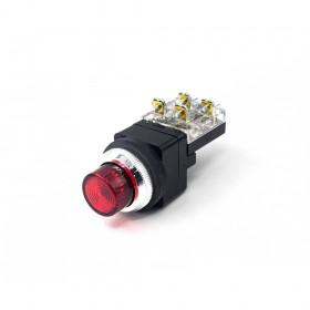 天得  凸頭照光按鈕-紅(#30) 110VAC 1a1b (傳統型)
