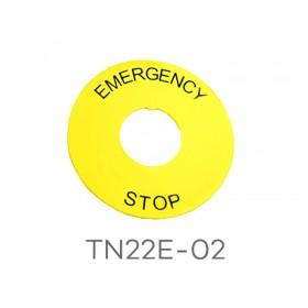 TN22E-02 天得 22ψ緊急標籤 STOP