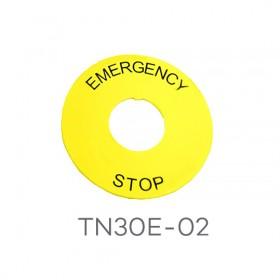 TN30E-02 天得 30ψ緊急標籤 STOP