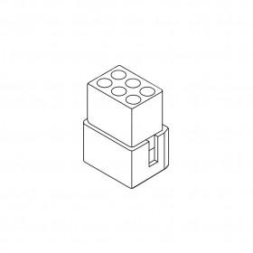 1.58-6P 母連接器 空中接頭 間距3.68 (20入)