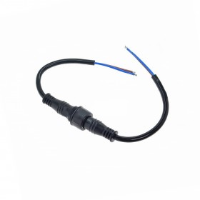2P 18mm黑色防水公頭母座附線連接器