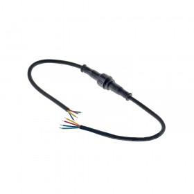 4P 11mm黑色防水公頭母座附線連接器