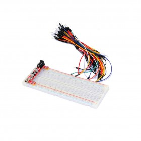 一片式麵包板+杜邦公-公跳線+麵包板專用電源(YK0)