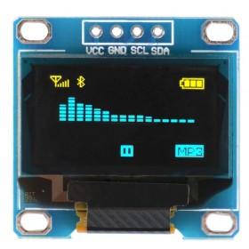 I2C IIC通信OLED液晶屏模組(黃藍雙色)