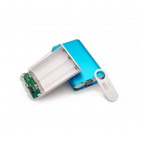 DIY 套件 3節18650行動電源盒-鋅合金 免焊