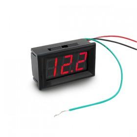 防水型0.56三位元 LED電壓錶頭-黑殼紅光 DC0~200V