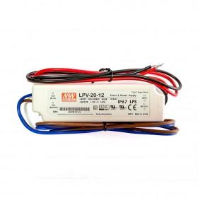 明緯  LPV-20-12 12V 1.67A 防水型定電壓模組/電源供應器(招牌可用可防水)