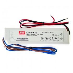 明緯 LPV-60-12 12V 5A 防水型定電壓模組/電源供應器 (招牌可用有防水)