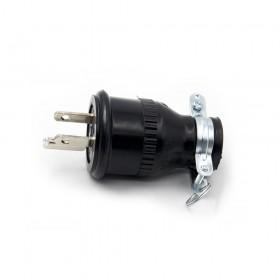 3P 15A 125V H型接地橡膠插頭(LK-7004)
