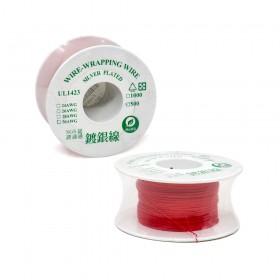 紅色 鍍銀線/單芯線 30AWG 105℃ 500ft