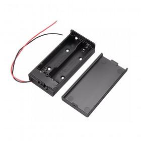 電池盒(帶線+開關+蓋子) 18650 2顆