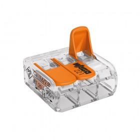 WAGO 221-413 快速接頭 3P32A 0.14-4mm (5入)
