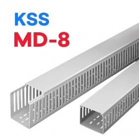 絕緣配線槽 MD-8 (灰色) 100*100mm 1.7M (出線孔8MM)