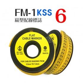 KSS 扁型配線標誌 FM-1 (500PCS/捲)