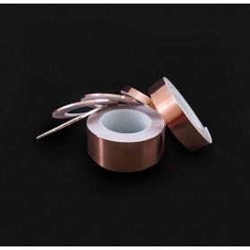 單導電銅箔膠帶 15mm*30M 耐高溫155度 (符合RoHS)