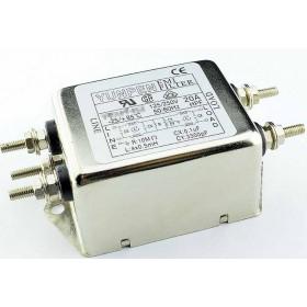 EMI FILTER YE-20T1L2 20A 250V雙π EMI電源濾波器(插腳)