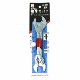 CRAB 5支超薄雙開口扳手 8-21mm GS-500