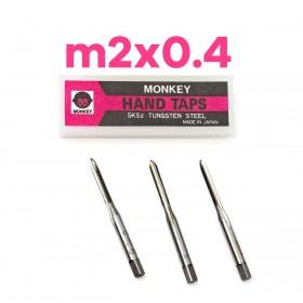 猴印手絞絲攻 m2x0.4 (3支/組)