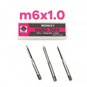 猴印手絞絲攻 m6x1.0 (3支/組)