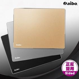 aibo 正反雙用鋁合金滑鼠墊-小 (MA-41) 22*18*0.2CM-黑色