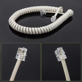 4C 聽筒曲線 米白色 7尺