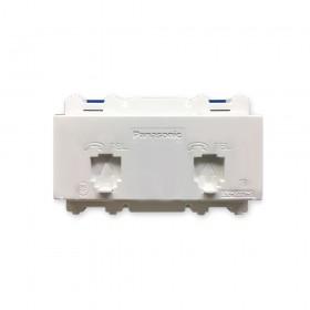 Panasonic 星光WNF-2264W埋入式電話雙插座 (6極4芯)