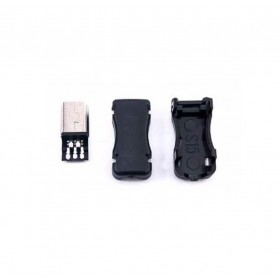 USB塑膠三件式 Mini5p 公接頭(5PCS/入)