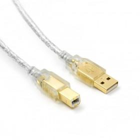 Pro-Best USB2.0 鍍金頭A公-B公 透明連接線 1.8M