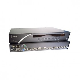 KVM 電腦切換器 8埠 VGA+USB+PS/2介面 SK-1708 (含8條線)