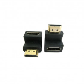 HDMI轉接頭(鍍金) 公對母 90度 1.4版 HDG-11