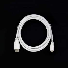 樹莓派Raspberry Pi4B Official 官方micro HDMI 轉 HDMI線4K白色 2米