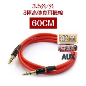 3.5公/公 3極高傳真耳機線 60CM(VD-155)